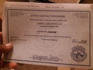 Jose's Concrete Las Vegas Nevada Contractor